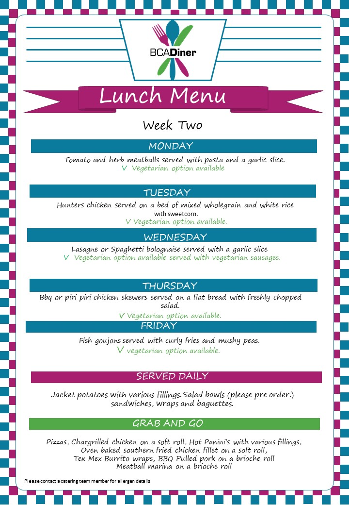 diner_menu week two spring summer 2018