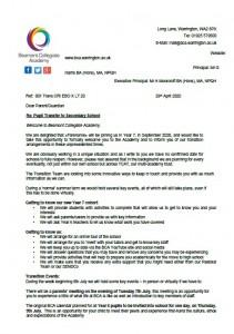 Pupil Transfer Letter